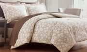 BQ17-Mink & Cream Poppy Comforter Set
