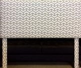 BM09-Queen Chevron Fabric, Taupe & Cream