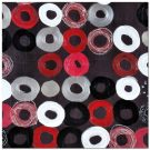A130a-Red & Black Circles, Canvas