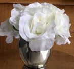 PL24-Rose Bouquet in silver/gold pot