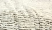 TH18a-Faux Fur, Off White Ribbed