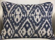 TC62c-Blue & White, Ikat Pattern