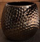 Vase, Warm Bronze, Dimpled-Acc405