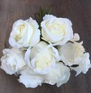 PLS07-Bouquet of white faux roses