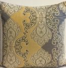 TC94aa-Grey & Gold Paisley, Toss Cushion
