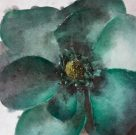 A133a-Jewel Green, Floral Canvas