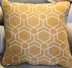 TC86-Mustard Yellow, Honeycomb Pattern