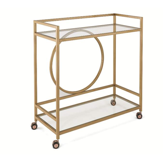 Otc43 art deco cart gold finish the rental dept Model home furniture rental