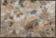A116b-Blushing Blooms, Grey Frame