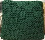 TC103-Emerald Green, Thick Knitted