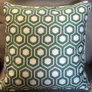 TC66a-Hexagon Design, Aqua Green