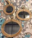 M36-Trio of Rustic Wooden Mirrors
