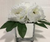 PL09a-Flowers in Silver Mirror Pot