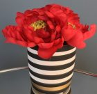 PL40b-Red Flowers in Black & Gold Pot