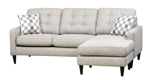 Sf27a winter white sofa chaise tufted back the rental dept Model home furniture rental