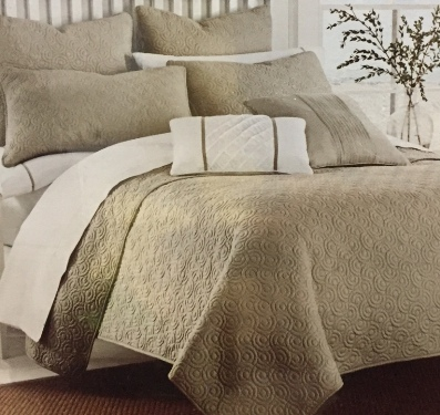 Bk12 king coverlet circle motif the rental dept Model home furniture rental