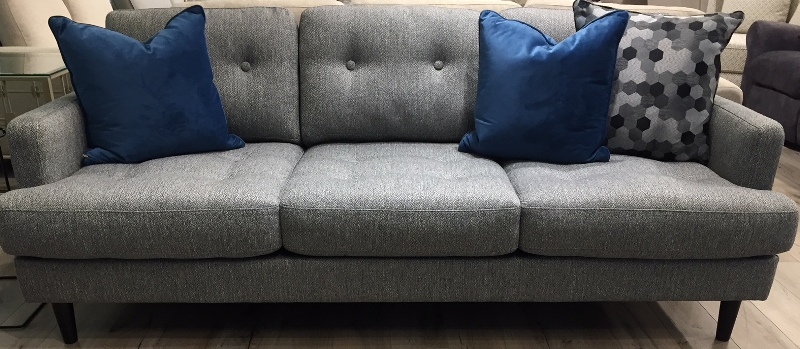Sf29 grey woven tweed sofa the rental dept Model home furniture rental