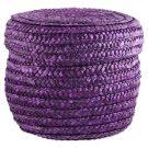 Decorative Basket, Purple Woven-Acc902