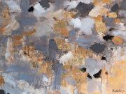 A99a-Grey/Gold Foil, XL Canvas