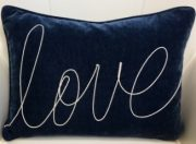 "TC89c-""LOVE"" script, Navy Lumbar"
