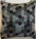 TC39b-Black & Grey Honeycomb Pattern