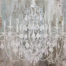 A117c-Chandelier Canvas, White Silhoutte