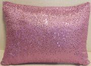 TC76b-Pink Sequin, Sparkly Lumbar