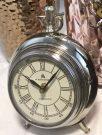 Clock, Antique Silver, 3legged-Acc139