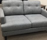 SF29a-Grey Woven Tweed Loveseat