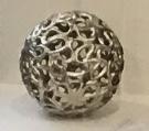 Decorative Sphere, Silver Filigree-Acc0445
