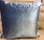 TC005ab-Powder Blue Velvet w/zipper