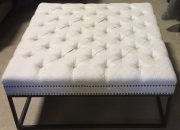OB15a-XXL Square Tufted, Greek Key