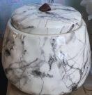Decorative Ginger Jar, Marble-Acc505a