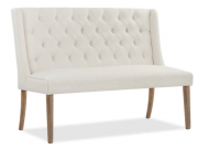 DC02a-Dining Bench, Ivory Wing