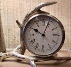 Clock, Silver Antler, Desk LRG-Acc103a