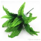 PLS18-Faux Green Fern Stem, Large