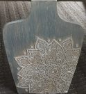 Decorative Faux Vase Plaque, Blue-Acc016