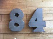 A50a-Metal Numbers 84, Distressed