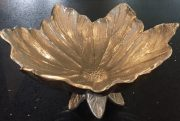 Bowl, Silver Leaves on stand-A1001a