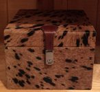 Box, Brown Spotted Cow Hide-Acc9959a