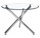 DT16b-40″ Round w/Chrome Metal Legs