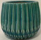 Vase, Green/Blue Ribbed-Acc401b