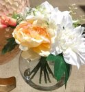 PL27d-Spring Bouquet in Glass Globe