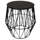 PT08-Black Metal Side Table, Diamond