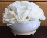 PL50c-Roses in low bowl, wood trim