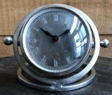 Clock, Rnd Silver Aviator-Acc508d