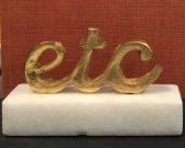 """Decorative """"etc"""" gold script-Acc433a"""