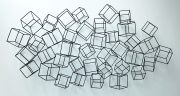 A49e-Metal Cubes, Wall Sculpture