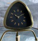 Clock, Triangle, Gold Finish-Acc508b