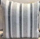 TC40cc-Grey & White, Linen Stripes